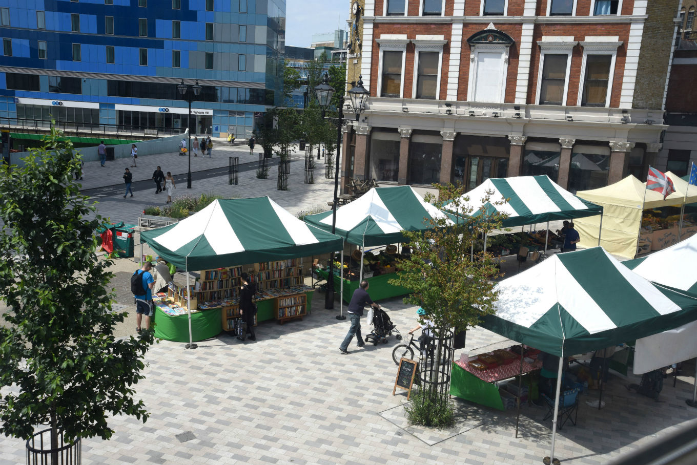 Archway Market tents in Navigator Square