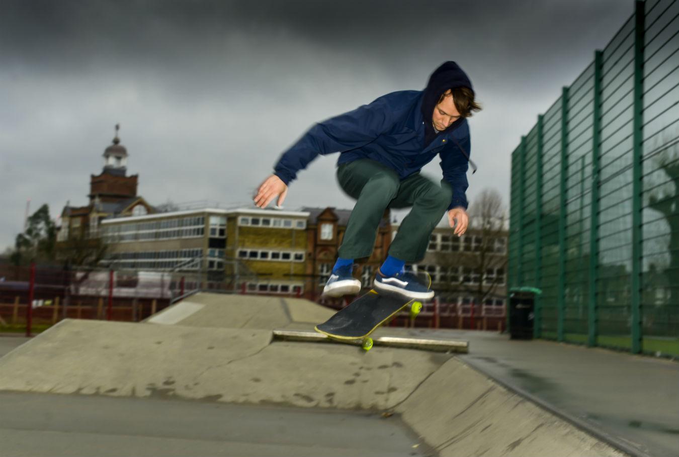 Tara Gordon's photograph of Felix at Camden Road's skate park