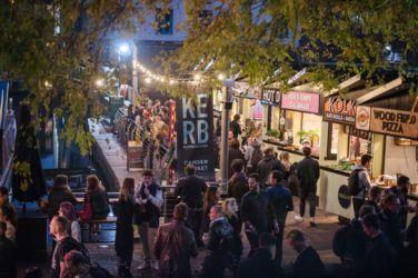 Crowds at night at Kerb Camden Lates