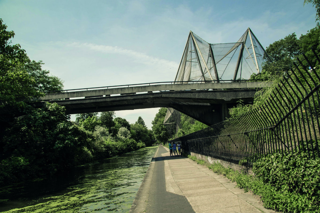Canal towpath by London Zoo