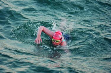 Jessica Hepburn swimming the Channel