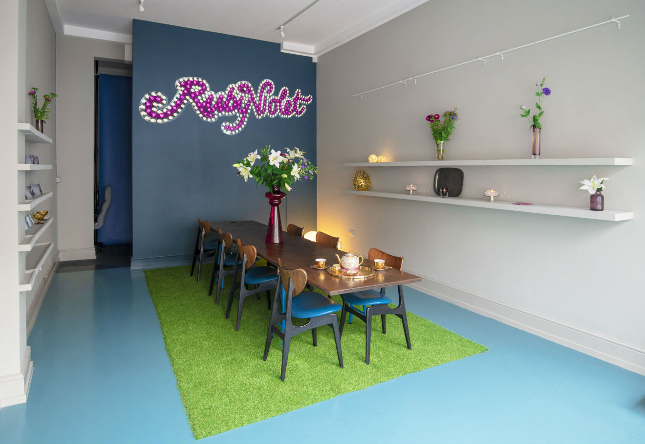 The interior of the new event space next to Ruby Violet