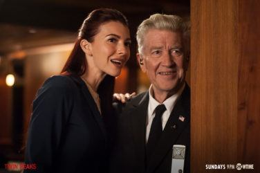 Twin Peaks - Chrysta Bell as Special Agent Tamara Preston and Twin Peaks co-creator David Lynch as Gordon Cole. Photo courtesy Showtime (1)