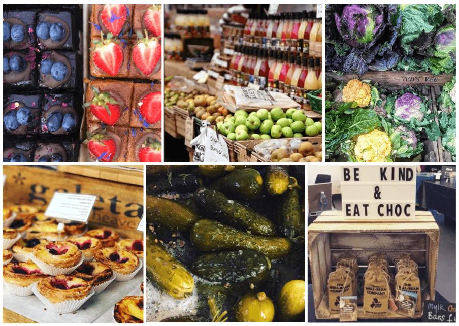 array of fresh produce at Camden Farmers' Market
