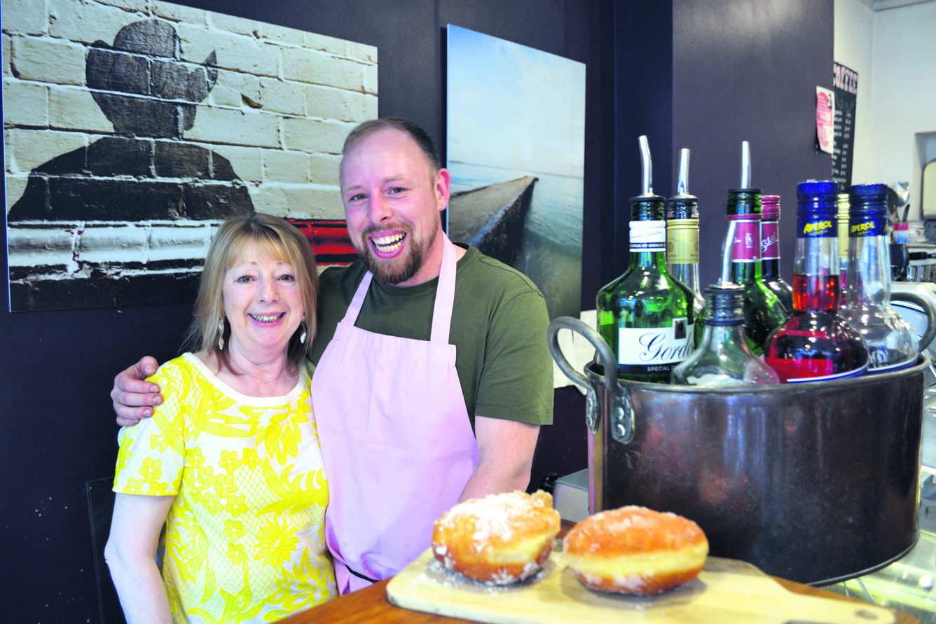 Lee and Ann Smyth behind the counter at Truffle