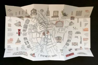 Christine Nicholls intricate map of Tufnell Park