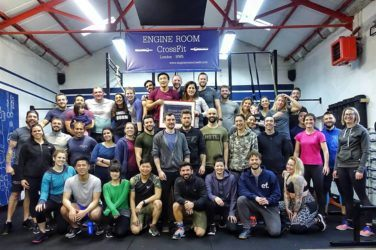 Participants at Engine Room CrossFit