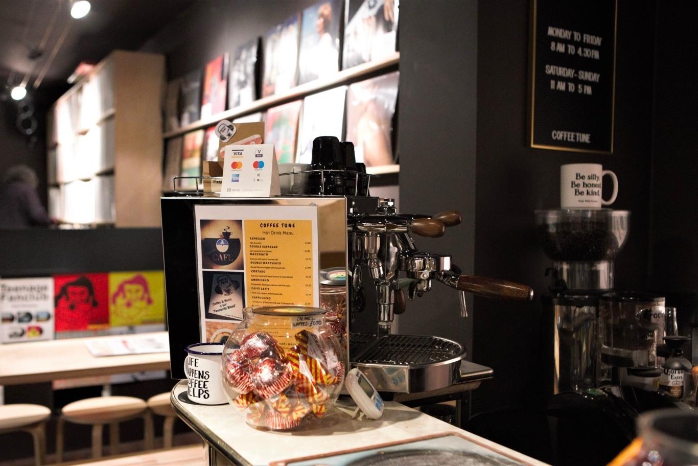 coffee machine and sweets