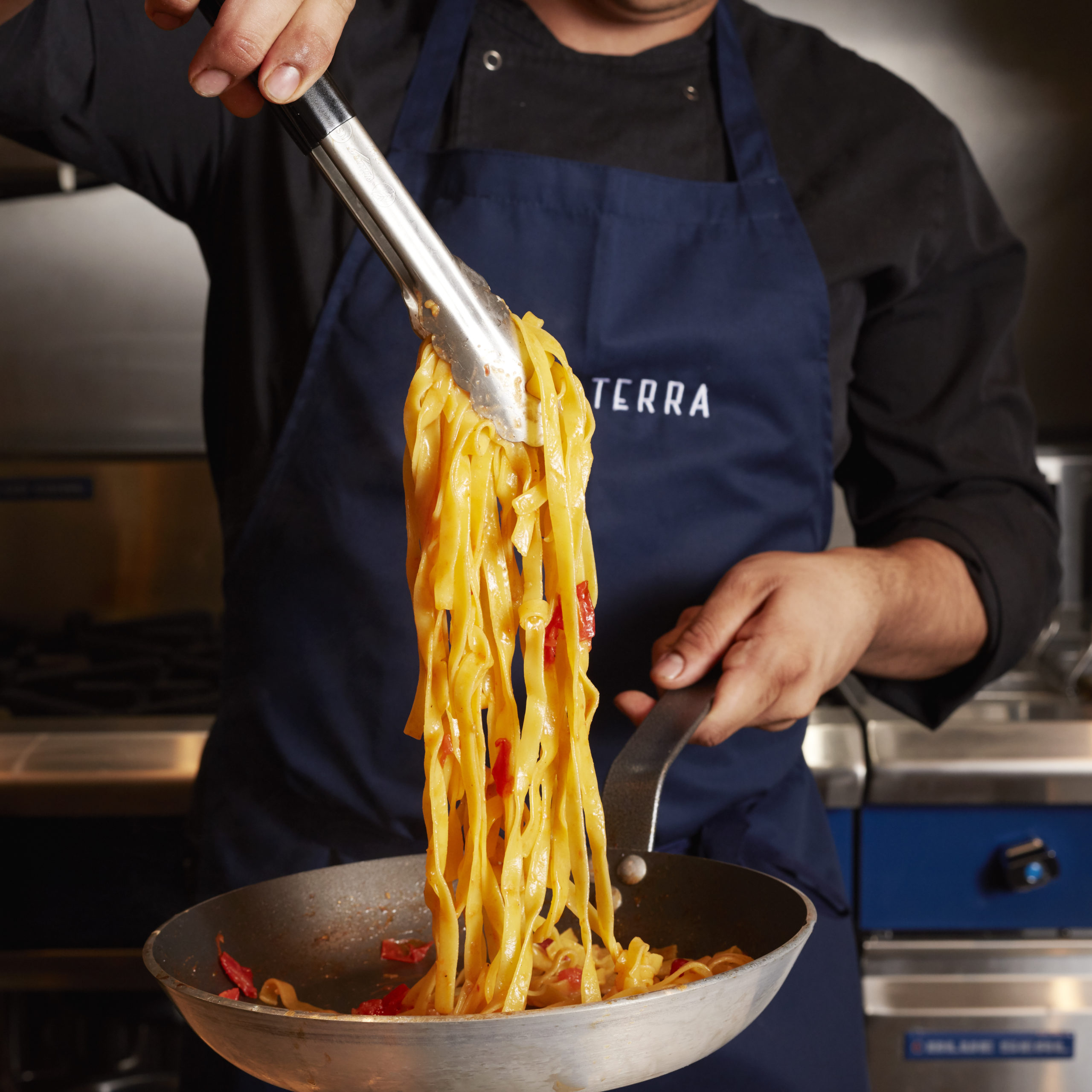 Pasta being made at Terra Terra
